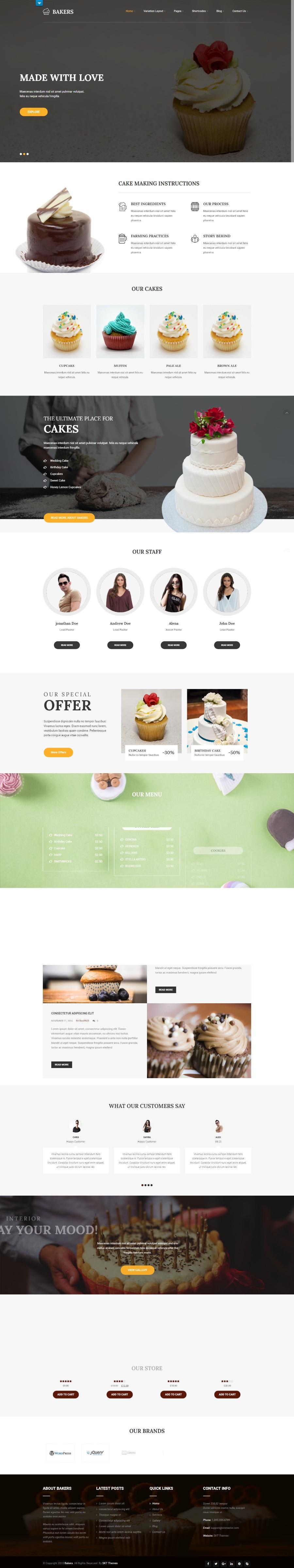 Bakers:烘培面包店免费Wordpress主题